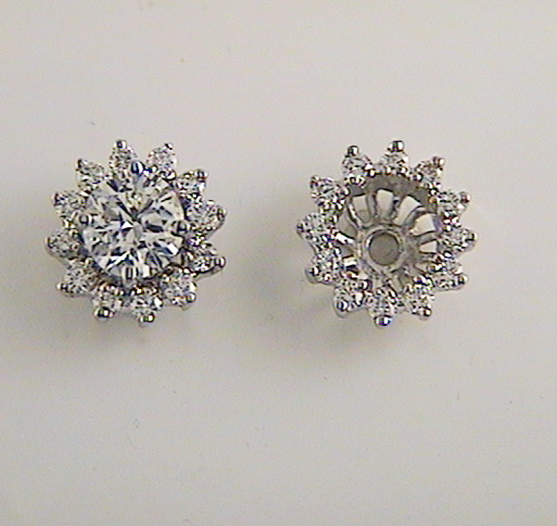 Diamond Studs And Earring Jackets