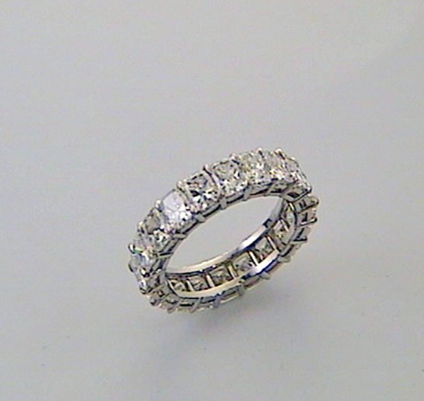 Cushion Cut Diamond Wedding Band K W Jewelry Kestenbaum Weisner